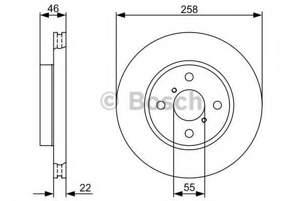 BOSCH 0986479C06 Тормозной диск