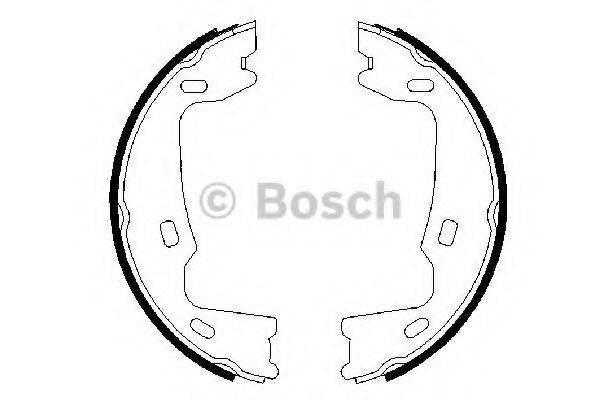 BOSCH 0986487214 Комплект тормозных колодок; Комплект тормозных колодок, стояночная тормозная система