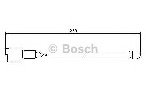 BOSCH 1987474910 Сигнализатор, износ тормозных колодок