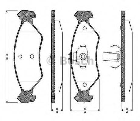 BOSCH 0986TB2160 Комплект тормозных колодок, дисковый тормоз