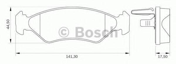 BOSCH 0986BB0044 Комплект тормозных колодок, дисковый тормоз