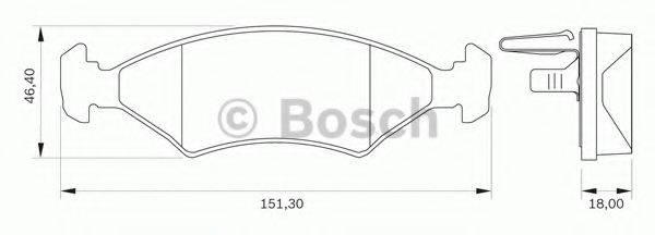 BOSCH 0986BB0049 Комплект тормозных колодок, дисковый тормоз