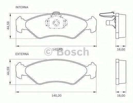 BOSCH 0986BB0276 Комплект тормозных колодок, дисковый тормоз