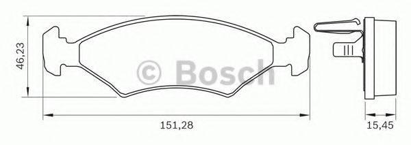 BOSCH 0986BB0279 Комплект тормозных колодок, дисковый тормоз