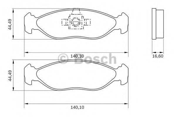 BOSCH 0986BB0789 Комплект тормозных колодок, дисковый тормоз