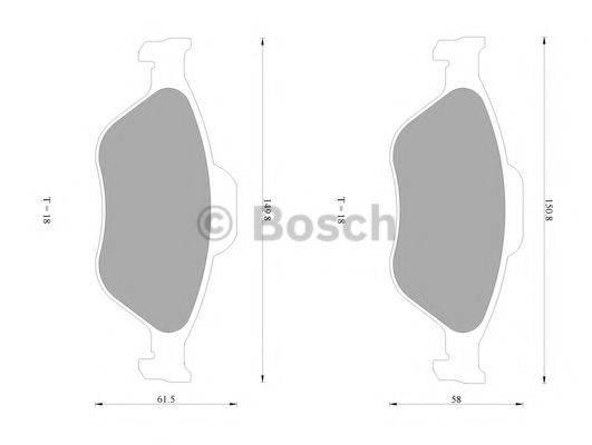 BOSCH 0986AB1060 Комплект тормозных колодок, дисковый тормоз