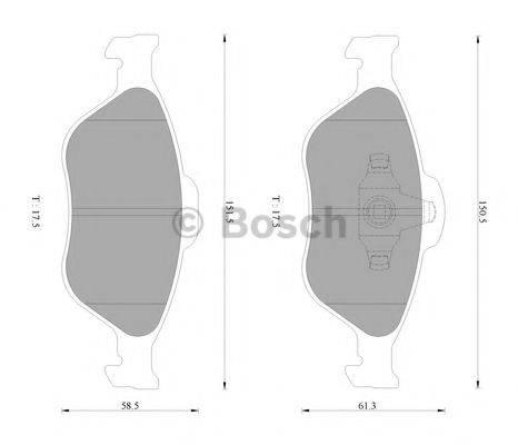 BOSCH 0986AB2779 Комплект тормозных колодок, дисковый тормоз