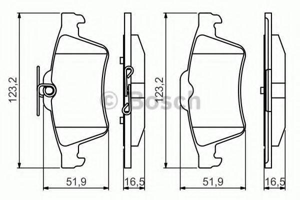 BOSCH 0986495216 Комплект тормозных колодок, дисковый тормоз