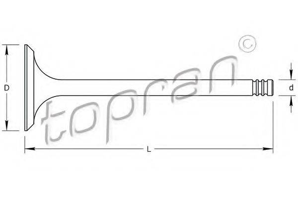 TOPRAN 500711 Впускной клапан