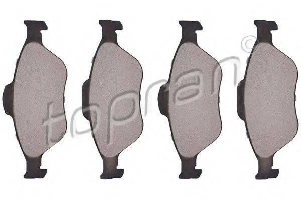 TOPRAN 301889 Комплект тормозных колодок, дисковый тормоз