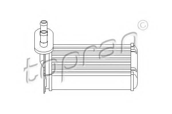 Теплообменник, отопление салона TOPRAN 103 147