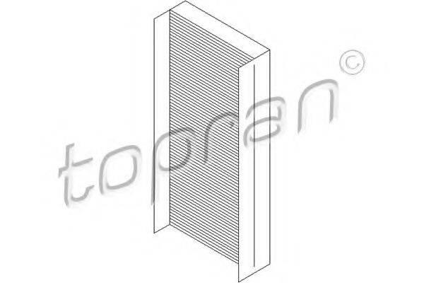 Фильтр, воздух во внутренном пространстве TOPRAN 301 766