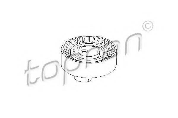 TOPRAN 500258 Паразитный / ведущий ролик, поликлиновой ремень