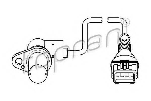 TOPRAN 501441 Датчик частоты вращения, управление двигателем