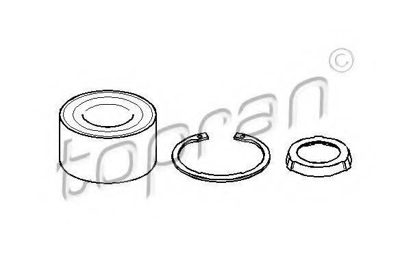 TOPRAN 500636 Комплект подшипника ступицы колеса