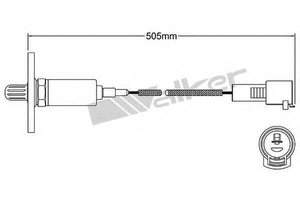 WALKER PRODUCTS 25021056 Лямбда-зонд
