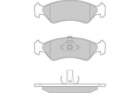 E.T.F. 120671 Комплект тормозных колодок, дисковый тормоз