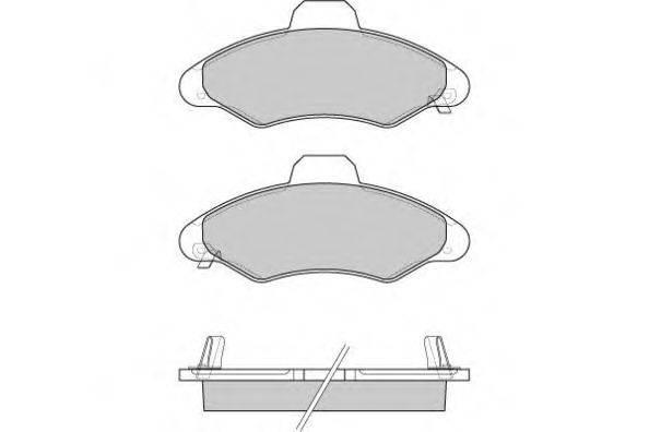 E.T.F. 120827 Комплект тормозных колодок, дисковый тормоз