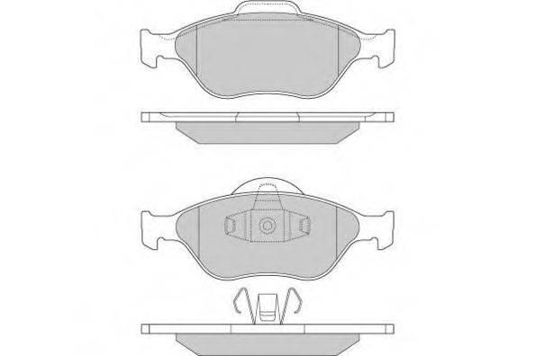 E.T.F. 120872 Комплект тормозных колодок, дисковый тормоз
