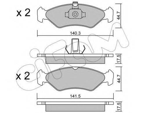 CIFAM 8220880 Комплект тормозных колодок, дисковый тормоз