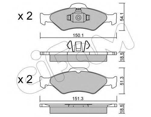 CIFAM 8223150 Комплект тормозных колодок, дисковый тормоз