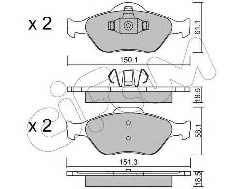 CIFAM 8223160 Комплект тормозных колодок, дисковый тормоз