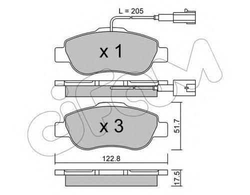 CIFAM 8226381 Комплект тормозных колодок, дисковый тормоз