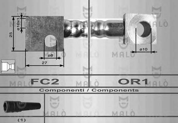 MALO 8549 Тормозной шланг
