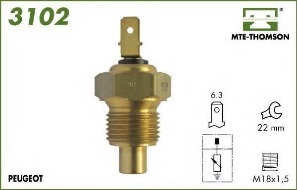 MTE-THOMSON 3102 Датчик, температура охлаждающей жидкости