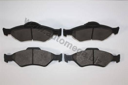 AUTOMEGA 30101110857 Комплект тормозных колодок, дисковый тормоз