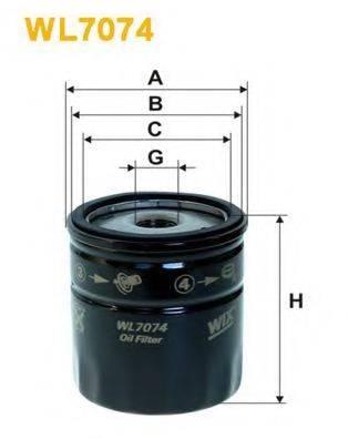WIX FILTERS WL7074 Масляный фильтр