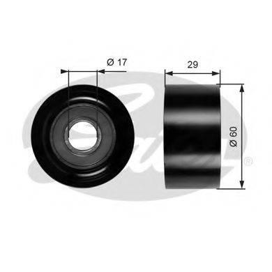 GATES T36084 Паразитный / ведущий ролик, поликлиновой ремень