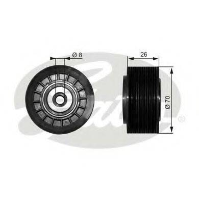 GATES T36304 Паразитный / ведущий ролик, поликлиновой ремень