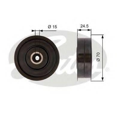 GATES T36372 Паразитный / ведущий ролик, поликлиновой ремень