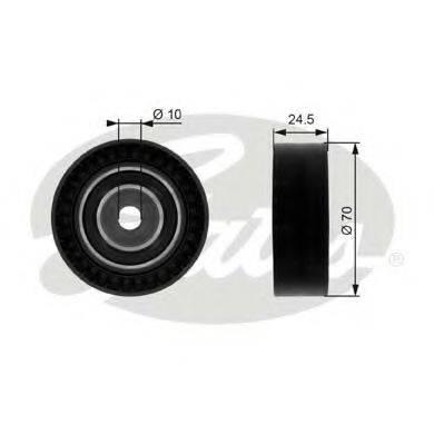 GATES T38071 Паразитный / ведущий ролик, поликлиновой ремень