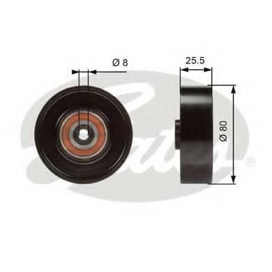 GATES T38089 Паразитный / ведущий ролик, поликлиновой ремень