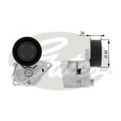 GATES T38224 Натяжной ролик, поликлиновой  ремень