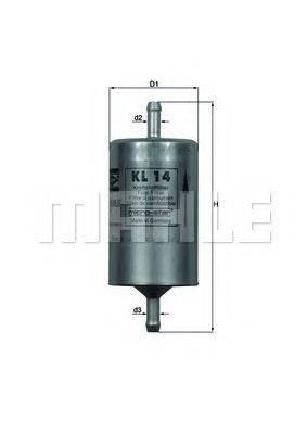 KNECHT KL14 Топливный фильтр