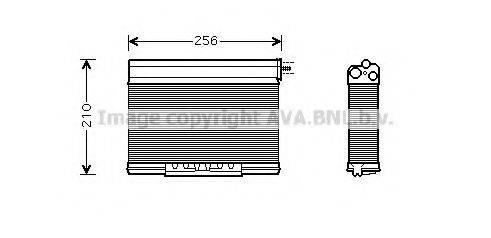 PRASCO BW6261 Теплообменник, отопление салона
