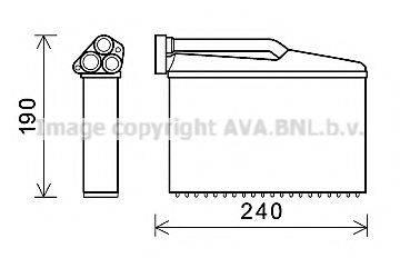 PRASCO BW6541 Теплообменник, отопление салона