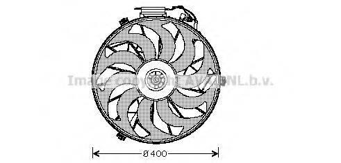 PRASCO BW7507 Вентилятор, охлаждение двигателя