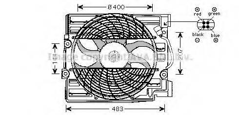 PRASCO BW7509 Вентилятор, охлаждение двигателя