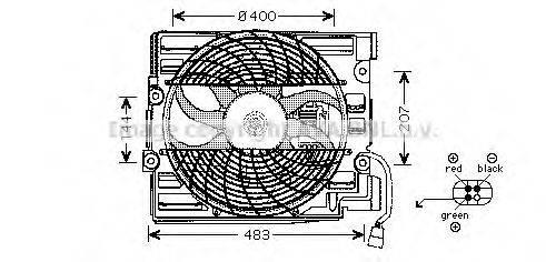 PRASCO BW7510 Вентилятор, охлаждение двигателя