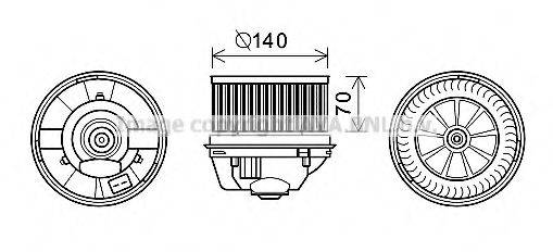 PRASCO FD8496 Электродвигатель, вентиляция салона