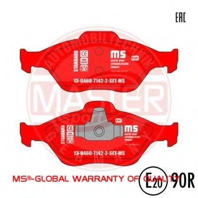 MASTER-SPORT 13046071422SETMS Комплект тормозных колодок, дисковый тормоз
