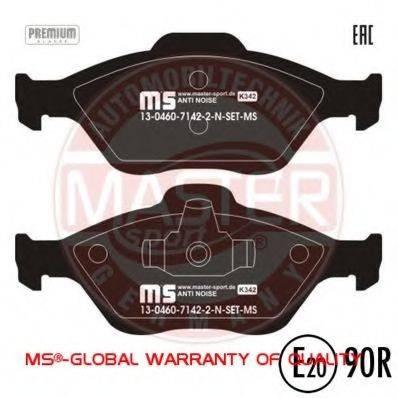 MASTER-SPORT 13046071422NSETMS Комплект тормозных колодок, дисковый тормоз