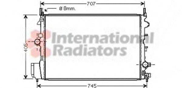 Радиатор, охлаждение двигателя VAN WEZEL 37002387