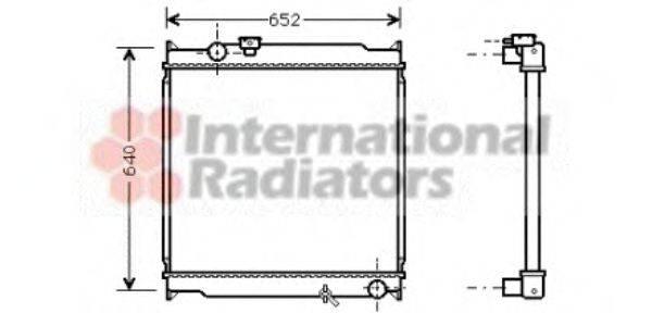 Радиатор, охлаждение двигателя VAN WEZEL 53002248