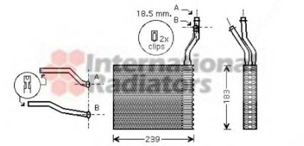 VAN WEZEL 18006364 Теплообменник, отопление салона