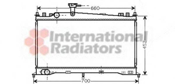 Радиатор, охлаждение двигателя VAN WEZEL 27002160